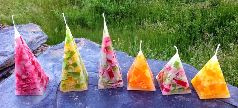 Comprar velas artesanales - Pirámides Mosaico