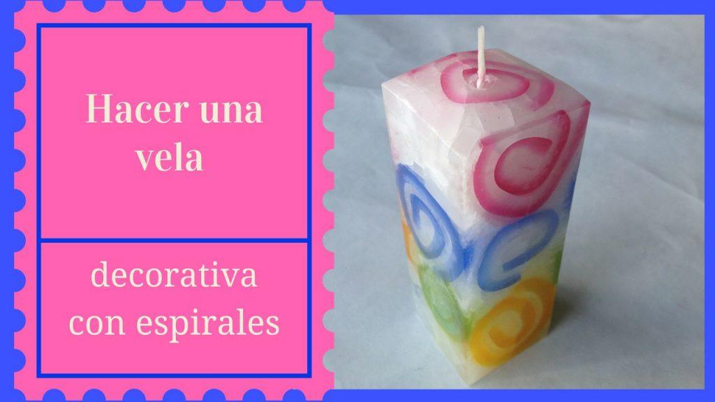 como hacer una vela decorativa con espirales