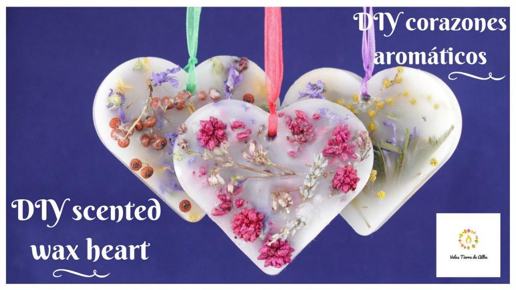 como hacer corazones aromaticos de cera