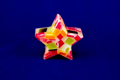 vela decorativa mosaico estrella